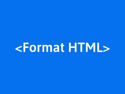 membuat format text html