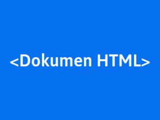 membuat dokumen file html
