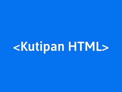 membuat blockquote html