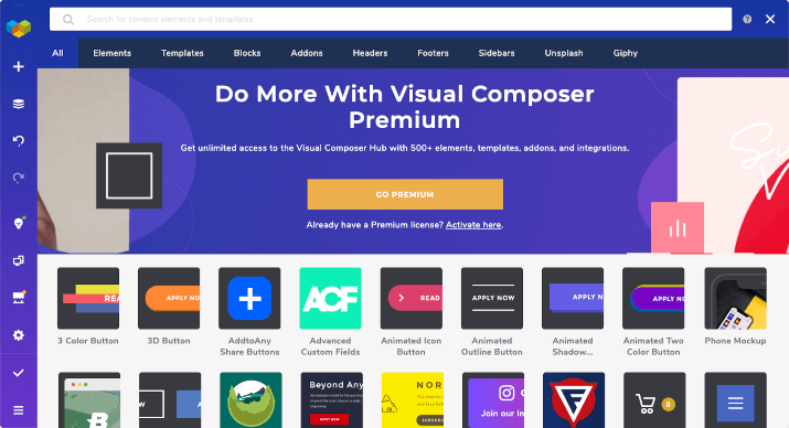 web builder visual composer
