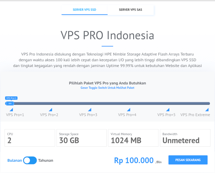 daftar vps pro idcloudhost