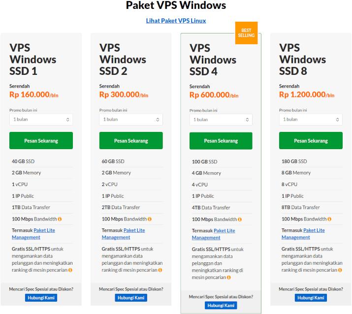 harga vps window exabytes
